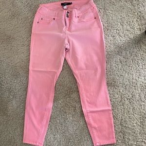 Torrid pink stretch skinny jeans
